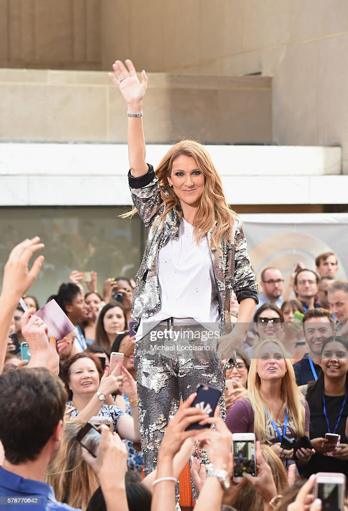 Singer Celine Dion performs on NBC's 'Today' show at Rockefeller Plaza on July 22 2016 in New York City