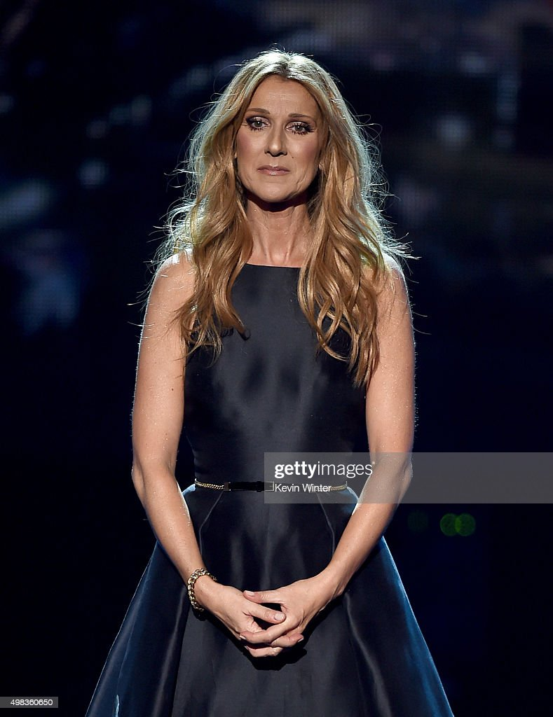 Singer <a gi-track='captionPersonalityLinkClicked' href=/galleries/search?phrase=Celine+Dion&family=editorial&specificpeople=202973 ng-click='$event.stopPropagation()'>Celine Dion</a> performs onstage during the 2015 American Music Awards at Microsoft Theater on November 22, 2015 in Los Angeles, California.