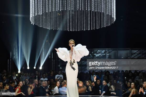 Singer Celine Dion performs onstage during the 2017 Billboard Music Awards at TMobile Arena on May 21 2017 in Las Vegas Nevada