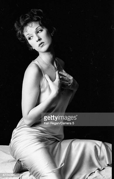 Singer Celine Dion poses for a portrait in 1994 in Montreal Quebec CREDIT MUST READ Ken Regan/Camera 5 via Contour by Getty Images