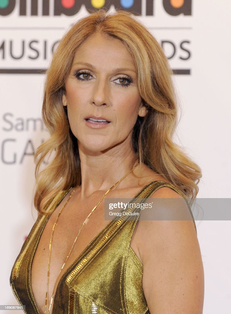 Singer Celine Dion poses in the press room at the 2013 Billboard Music Awards at MGM Grand Garden Arena on May 19, 2013 in Las Vegas, Nevada.