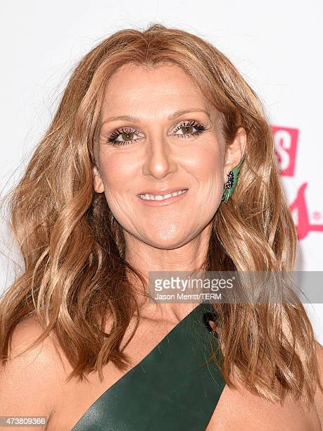 Singer Celine Dion poses in the press room during the 2015 Billboard Music Awards at MGM Grand Garden Arena on May 17 2015 in Las Vegas Nevada