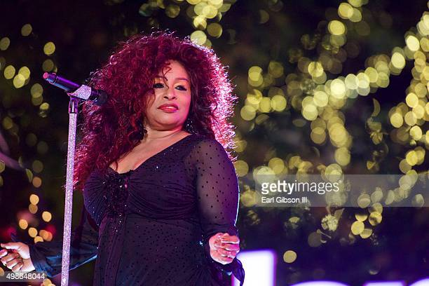 Singer Chaka Kahn perform at ABC's 'Dancing With The Stars' Live Finale Event at The Grove on November 24 2015 in Los Angeles California