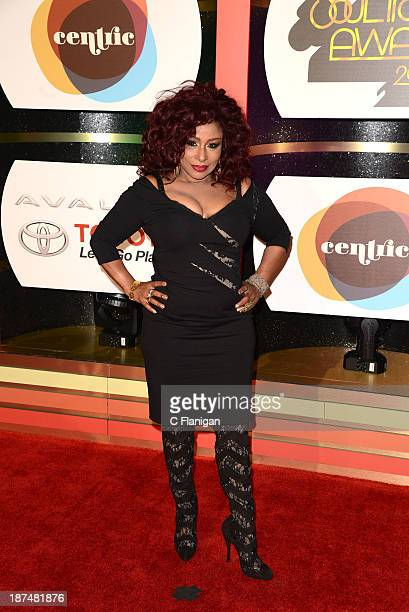Singer Chaka Khan arrives at the 2013 BET Soul Train Awards at the Orleans Arena on November 8 2013 in Las Vegas Nevada