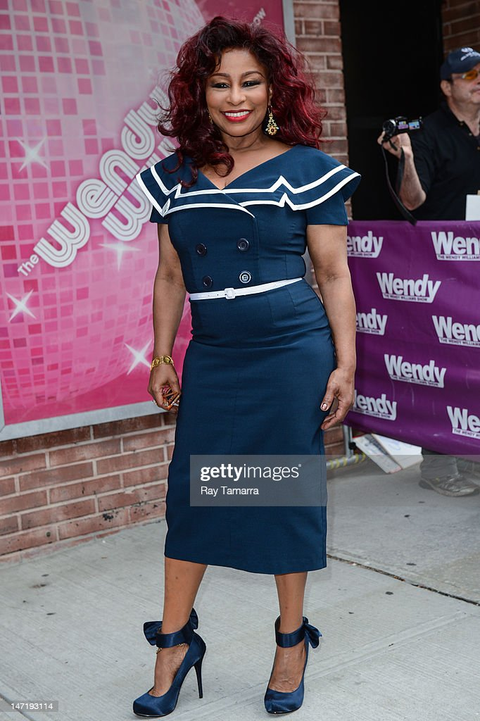 Singer Chaka Khan leaves the 'Wendy Williams Show' taping at the AMV Studios on June 26 2012 in New York City