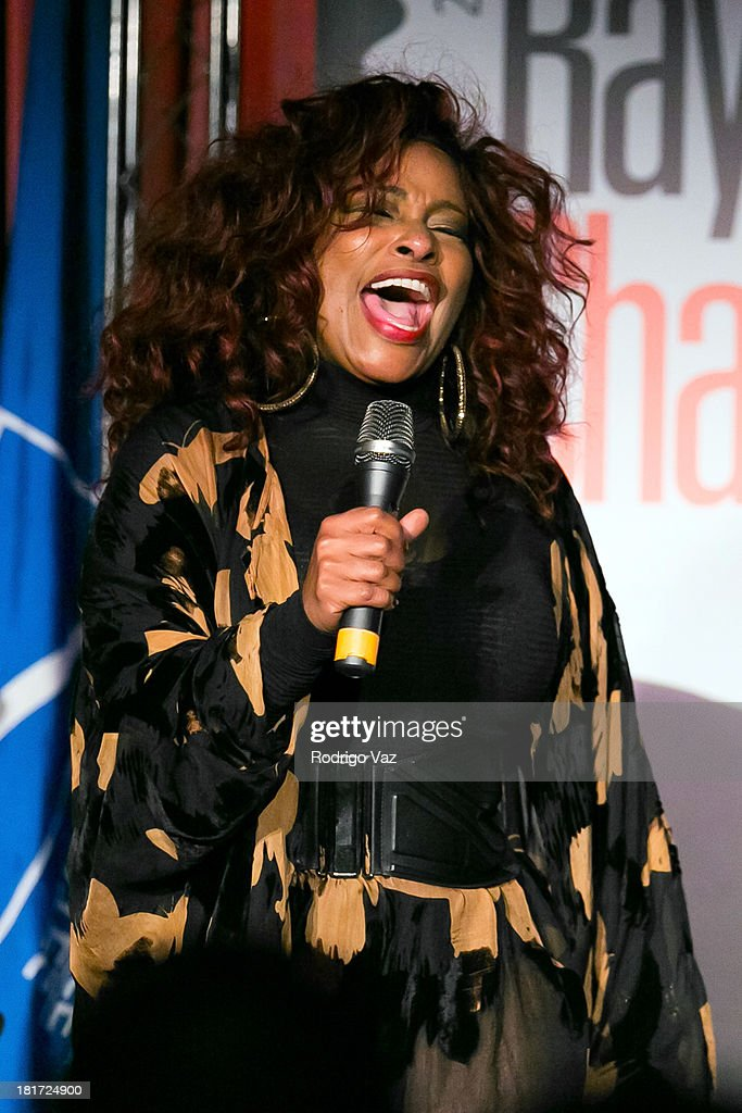 Singer <a gi-track='captionPersonalityLinkClicked' href=/galleries/search?phrase=Chaka+Khan&family=editorial&specificpeople=208691 ng-click='$event.stopPropagation()'>Chaka Khan</a> performs as U.S. Postal Service unveils a Limited-Edition Forever Stamp honoring Ray Charles In Los Angeles at The GRAMMY Museum on September 23, 2013 in Los Angeles, California.