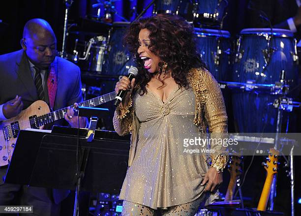Singer Chaka Khan performs at the 2014 Ebony Power 100 List event at Avalon on November 19 2014 in Hollywood California