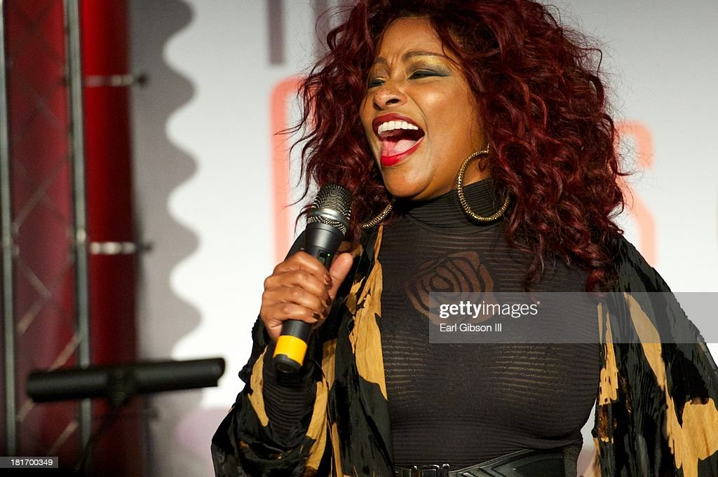 Singer <a gi-track='captionPersonalityLinkClicked' href=/galleries/search?phrase=Chaka+Khan&family=editorial&specificpeople=208691 ng-click='$event.stopPropagation()'>Chaka Khan</a> performs at the U.S. Postal Service First Day Of Issue Ceremony of the Ray Charles Forever Stamp at The GRAMMY Museum on September 23, 2013 in Los Angeles, California.