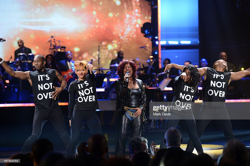 Singer <a gi-track='captionPersonalityLinkClicked' href=/galleries/search?phrase=Chaka+Khan&family=editorial&specificpeople=208691 ng-click='$event.stopPropagation()'>Chaka Khan</a> performs onstage during UNCF's 33rd Annual An Evening Of Stars held at Pasadena Civic Auditorium on December 1, 2012 in Pasadena, California.