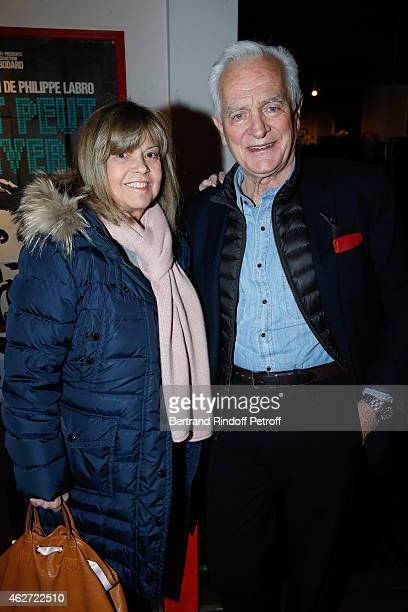 Singer Chantal Goya and Journalist and Director Philippe labro attend the Private Screening of the Movie 'Tout Peut Arriver' at Mac Mahon Cinema on...
