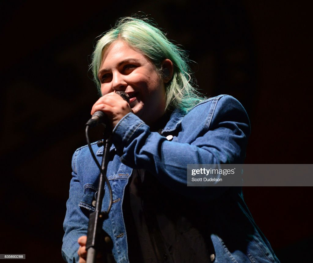 Singer Charity Rose Thielen of The Head and the Heart performs onstage during the Alt 98.7 Summer Camp concert at Queen Mary Events Park on August 19, 2017 in Long Beach, California.