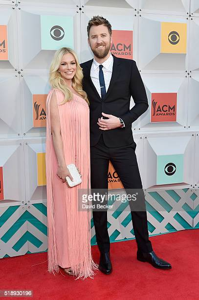 Singer Charles Kelley of Lady Antebellum and Cassie McConnell attend the 51st Academy of Country Music Awards at MGM Grand Garden Arena on April 3...