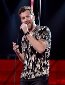 Singer Charles Kelley rehearses onstage during the 51st Academy of Country Music Awards at MGM Grand Garden Arena on April 2 2016 in Las Vegas Nevada