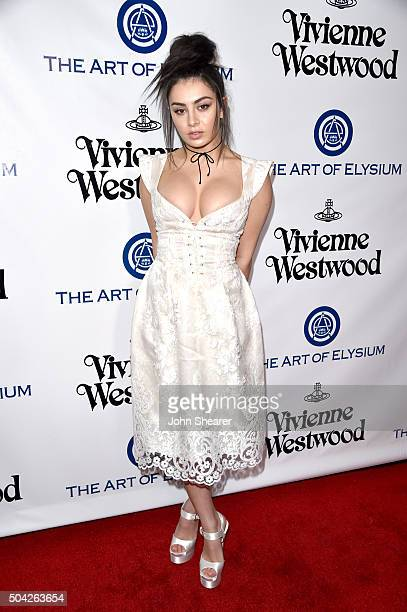 Singer Charli XCX attends The Art of Elysium 2016 HEAVEN Gala presented by Vivienne Westwood Andreas Kronthaler at 3LABS on January 9 2016 in Culver...