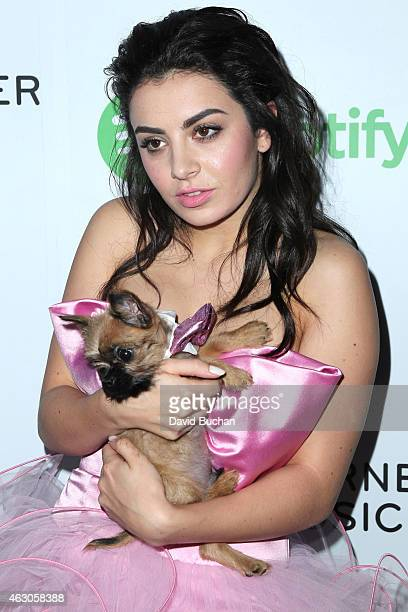 Singer Charli XCX attends the Warner Music Group annual Grammy celebration at Chateau Marmont on February 8 2015 in Los Angeles California