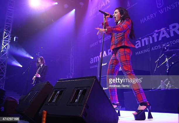 Singer Charli XCX performs onstage during amfAR's 22nd Cinema Against AIDS Gala Presented By Bold Films And Harry Winston at Hotel du CapEdenRoc on...