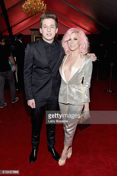 Singer Charlie Puth and songwriter Bonnie McKee attend The 58th GRAMMY Awards at Staples Center on February 15 2016 in Los Angeles California