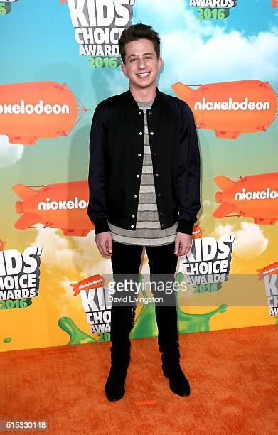 Singer Charlie Puth attends Nickelodeon's 2016 Kids' Choice Awards at The Forum on March 12 2016 in Inglewood California