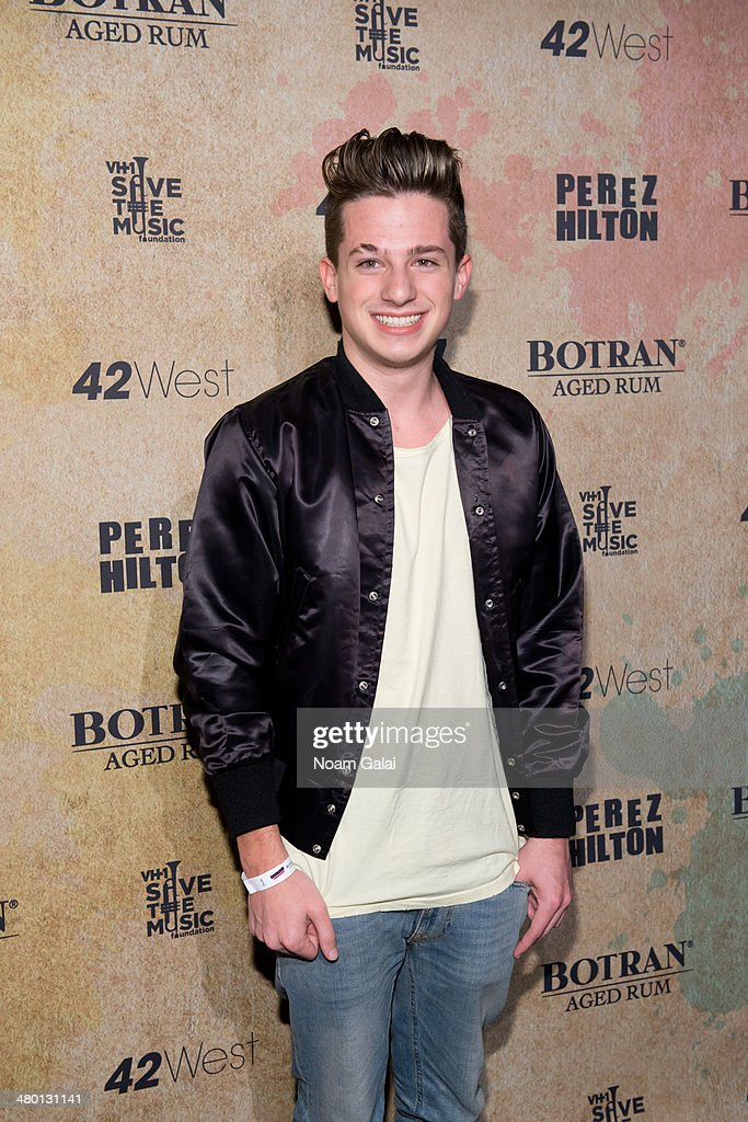 Singer Charlie Puth attends Perez Hilton's 36th Birthday 'Madonnathon' at 42West on March 22, 2014 in New York City.