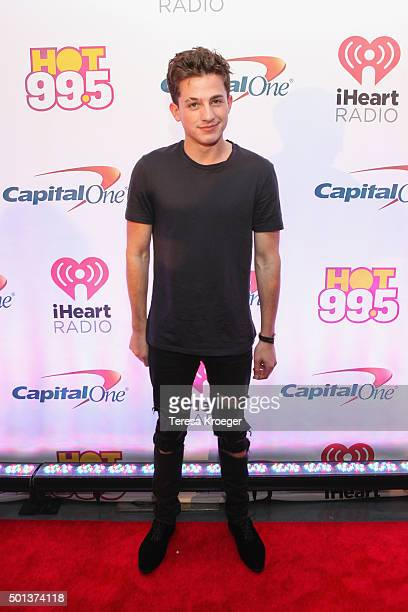 Singer Charlie Puth attends the 2015 iHeartRadio Jingle Ball at Verizon Center on December 14 2015 in Washington DC