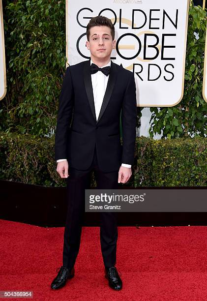 Singer Charlie Puth attends the 73rd Annual Golden Globe Awards held at the Beverly Hilton Hotel on January 10 2016 in Beverly Hills California