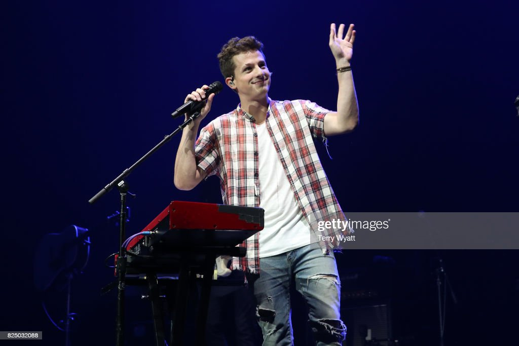 Singer Charlie Puth performs during the Illuminate World Tour at Bridgestone Arena on July 31, 2017 in Nashville, Tennessee.