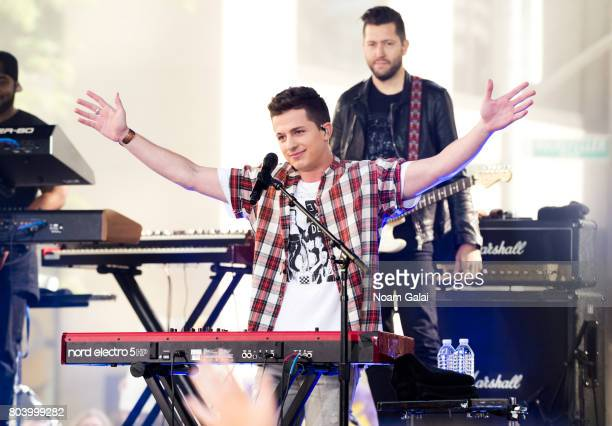 Singer Charlie Puth performs on NBC's 'Today' at Rockefeller Plaza on June 30 2017 in New York City