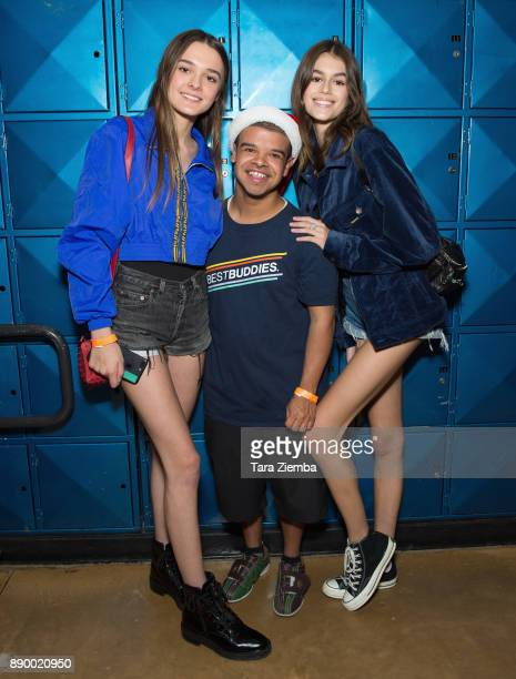 Singer Charlotte Lawrence and actress Kaia Gerber attend Bowling For Buddies at PINZ Bowling Entertainment Center on December 10 2017 in Studio City...