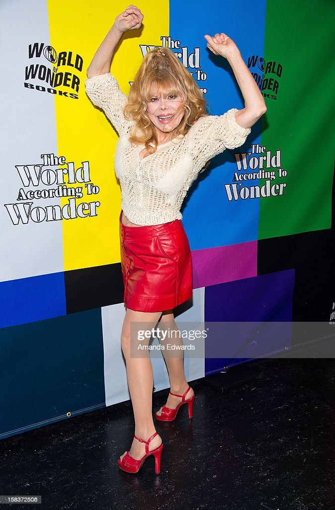 Singer Charo arrives at the World Of Wonder book release party/birthday bash at The Globe Theatre at Universal Studios on December 13, 2012 in Universal City, California.