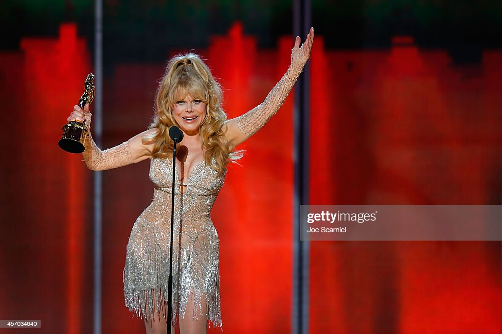 Singer Charo recipient of the Ricardo Montalban Award for Lifetime Achievement speaks onstage during the 2014 NCLR ALMA Awards at Pasadena Civic...