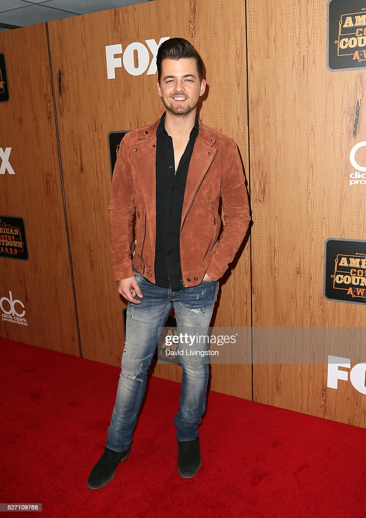 Singer Chase Bryant poses in the press room at the 2016 American Country Countdown Awards at The Forum on May 01, 2016 in Inglewood, California.