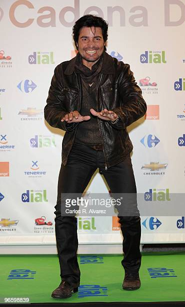 Singer Chayanne attends the ''Cadena Dial'' 2010 awards at the Tenerife Auditorium on February 11 2010 in Tenerife Spain