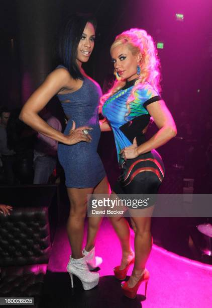Singer Cheaza and television personality Nicole 'Coco' Austin attend FilmDistrict's 'Parker' premiere after party hosted by Planet Hollywood Resort...