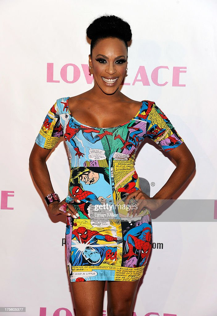 Singer Cheaza arrives at the Las Vegas premiere of the movie 'Lovelace' at Planet Hollywood Resort & Casino on August 4, 2013 in Las Vegas, Nevada.