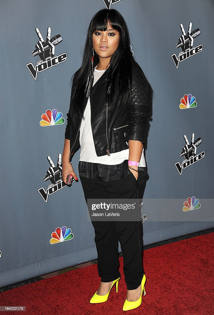 Singer Cheesa Laureta attends NBC's 'The Voice' season 4 premiere at TCL Chinese Theatre on March 20, 2013 in Hollywood, California.