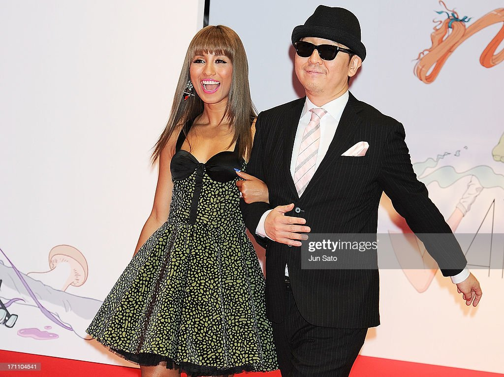 Singer Che'Nelle and Taku Takahshi attend the MTV Video Music Awards Japan 2013 at Makuhari Messe on June 22, 2013 in Chiba, Japan.