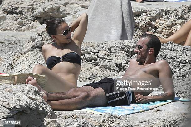 Singer Chenoa and Javier Arpa is seen on July 30 2014 in Ibiza Spain