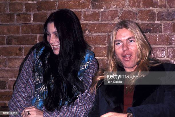 Singer Cher and musician Gregg Allman on January 21 1977 shop on Wisconsin Avenue in Washington DC