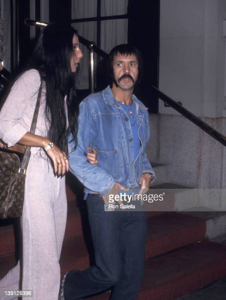 Singer Cher and singer Sonny Bono on May 6 1973 sighting at the St Regis Hotel in New York City
