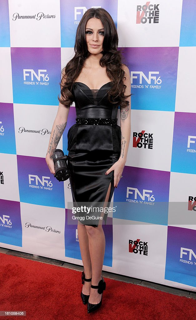 Singer Cher Lloyd arrives at The Grammy Awards: Friends 'N' Family party at Paramount Studios on February 8, 2013 in Hollywood, California.