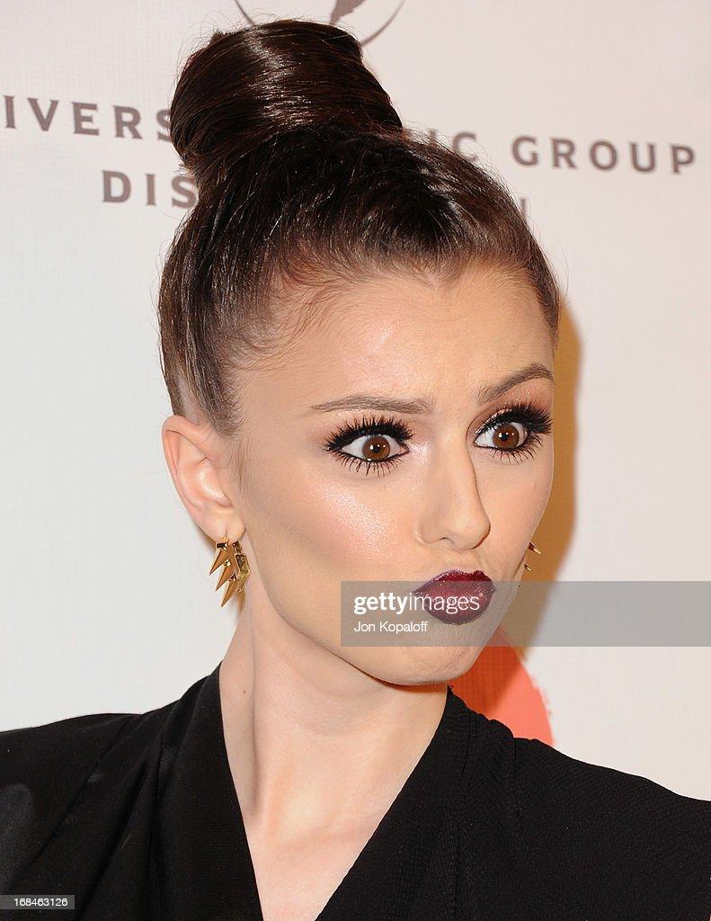 Singer Cher Lloyd arrives at the NARM Music Biz 2013 Awards Dinner Party at the Hyatt Regency Century Plaza on May 9, 2013 in Century City, California.