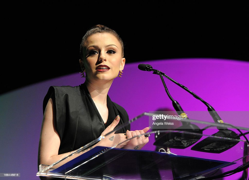 Singer <a gi-track='captionPersonalityLinkClicked' href=/galleries/search?phrase=Cher+Lloyd&family=editorial&specificpeople=7229738 ng-click='$event.stopPropagation()'>Cher Lloyd</a> attends the 2013 Music Biz Awards presented by NARM and digitalmusic.org at the Hyatt Regency Century Plaza on May 9, 2013 in Century City, California.