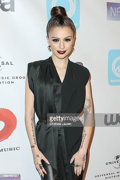 Singer Cher Lloyd attends the NARM Music Biz Awards dinner party at the Hyatt Regency Century Plaza on May 9 2013 in Century City California