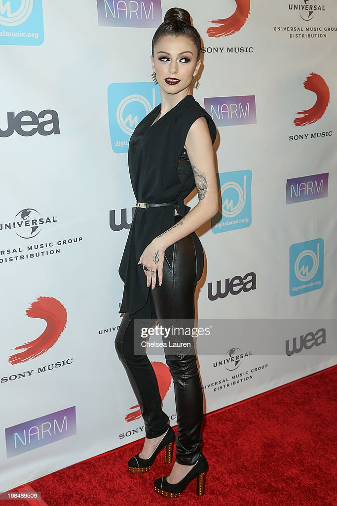 Singer Cher Lloyd attends the NARM Music Biz Awards dinner party at the Hyatt Regency Century Plaza on May 9, 2013 in Century City, California.