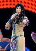 Singer Cher performs at the MGM Grand Garden Arena during her Dressed to Kill tour on May 25 2014 in Las Vegas Nevada