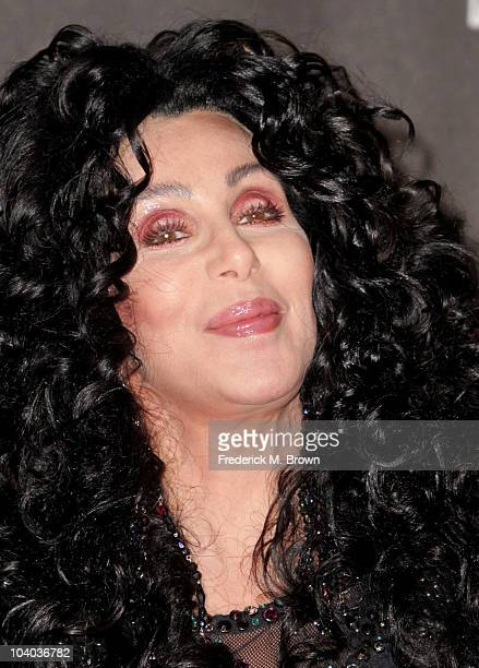 Singer Cher poses in the press room during the MTV Video Music Awards at NOKIA Theatre LA LIVE on September 12 2010 in Los Angeles California