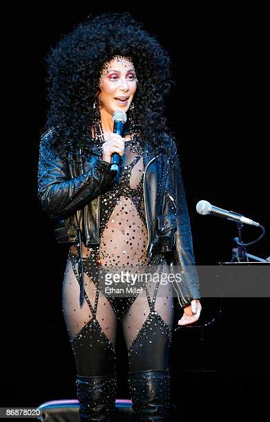 Singer Cher speaks during the 'Hit Man David Foster and Friends' concert at the Mandalay Bay Events Center May 9 2009 in Las Vegas Nevada