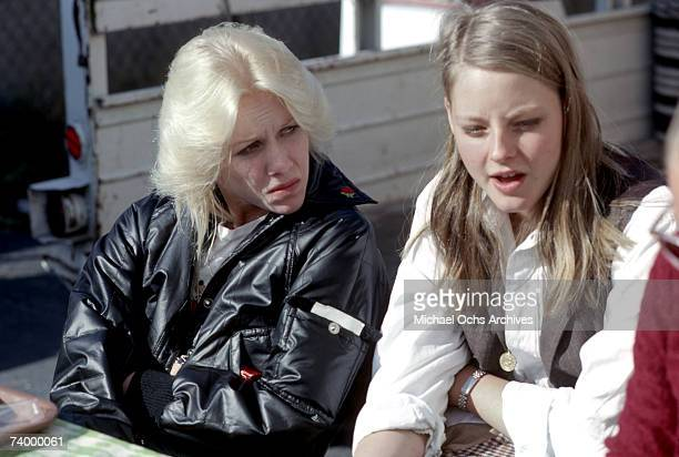 Singer Cherie Currie of the rock band 'The Runaways' chills with actress Jodie Foster in Los Angeles in December 1978