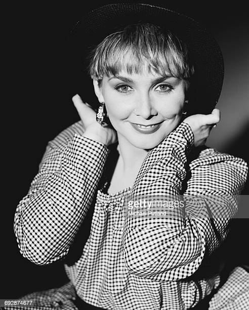 Singer Cheryl Baker of British pop group Bucks Fizz 1987