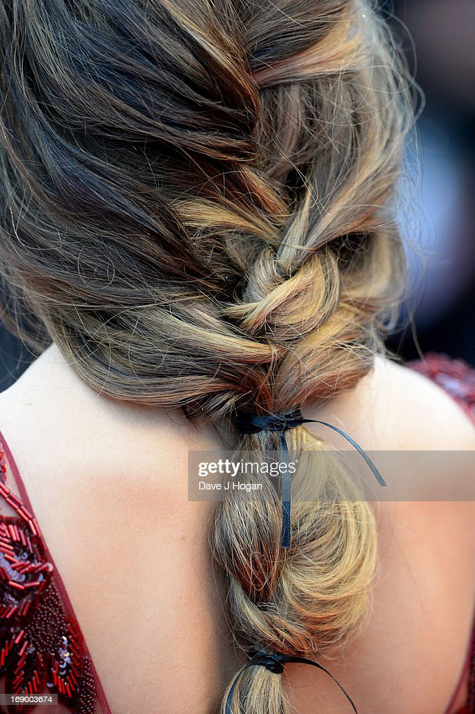 Singer Cheryl Cole (hair detail) attends 'Jimmy P. (Psychotherapy Of A Plains Indian)' Premiere during the 66th Annual Cannes Film Festival at Grand Theatre Lumiere on May 18, 2013 in Cannes, France.